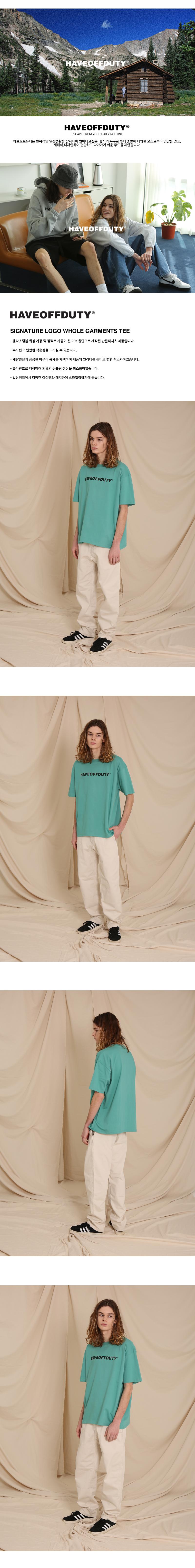 SIGNATURE  LOGO HALF T-SHIRTS (BEACH GREEN)